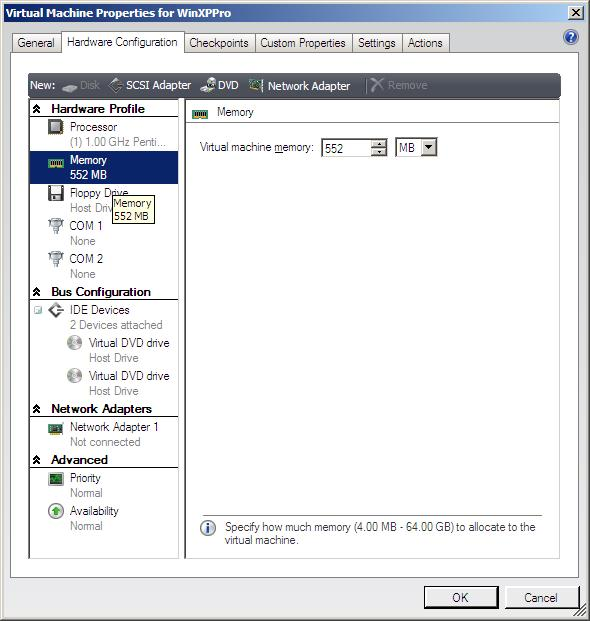 Viewing and changing the properties of a VMware vmx file inside the VMM Administrator Console