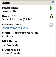 Installing a virtual machine into a VMware Server guest