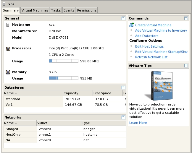 The VI Web Access Workspace in Host Mode