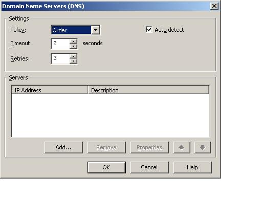 Configuring DNS settings for the VMware Server NAT device