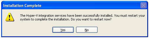 A successful Hyper-V Integration Services Installation