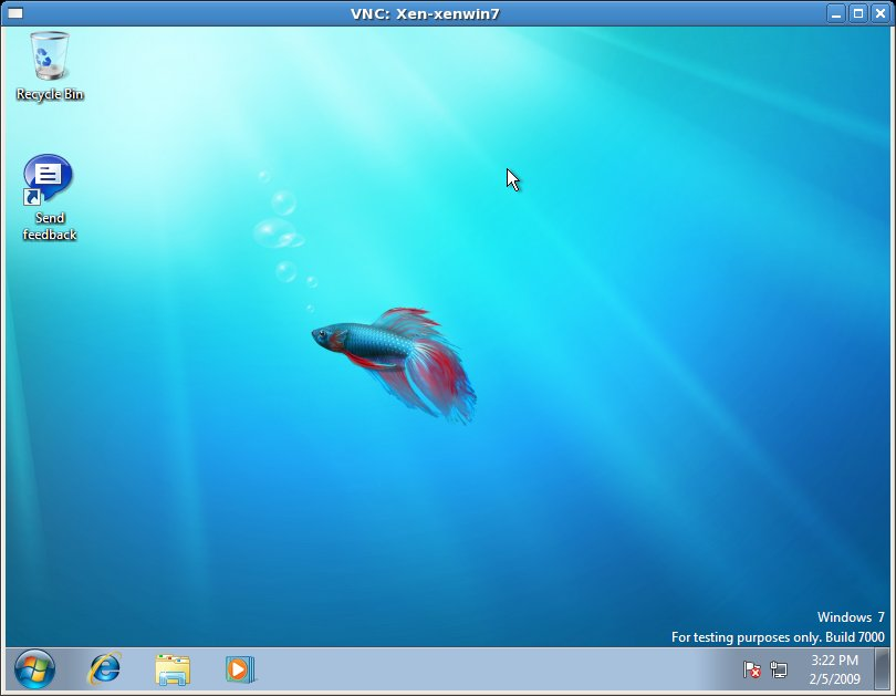 Windows 7 running as a Xen HVM guest