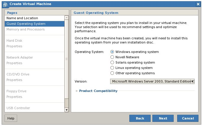 Configuring Virtual Machine Guest OS settings