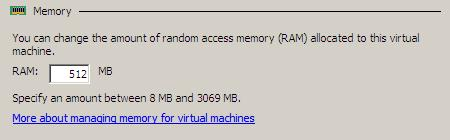 Configuring the memory assigned to a Hyper-V Virtual Machine