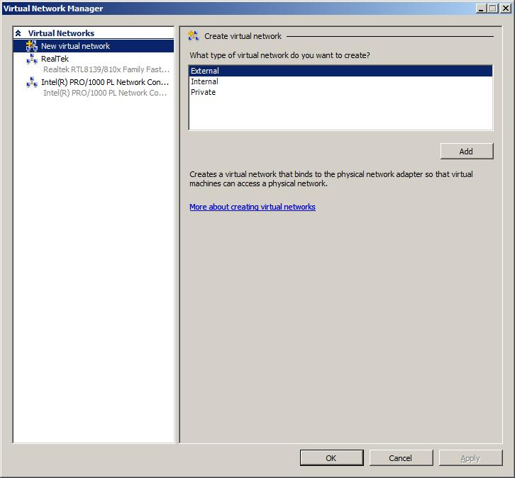The Hyper-V Virtual Network Manager