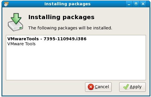 Installing VMware Tools on linux using the RPM installer