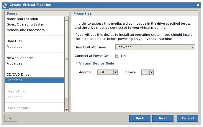 Adding a physical CD/DVD drive to a virtual machine
