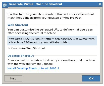 Generating a VMware Server 2.0 Virtual Machine Desktop Shortcut