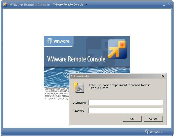 Logging into the VMware Remote console from a shortcut