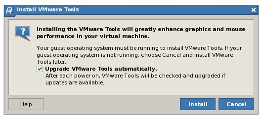 Configuring VMware Tools to automatically update