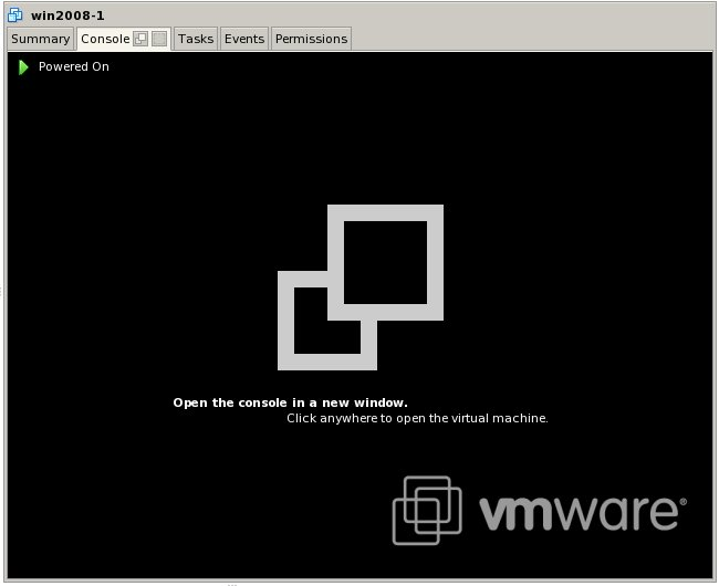 the VMware Remote Console when VM is powered on