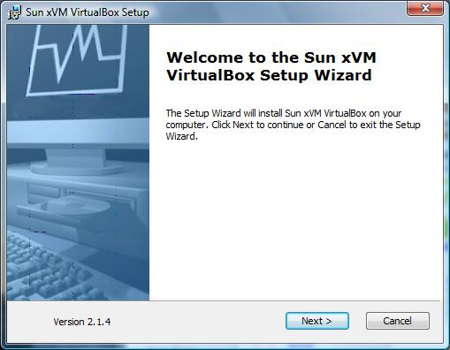 The VirtualBox 2.1 Windows installer wizard