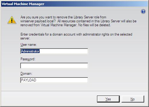 Removing a library server