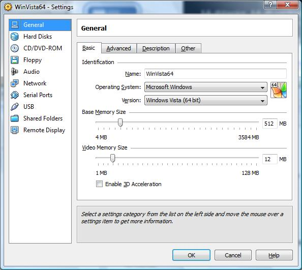 Configuring VirtualBox Virtual Machine Settings - Virtuatopia